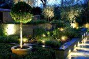 освещение светодиодами в саду
