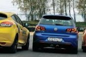 VW Golf R против Ford Focus RS против Renault Megane 250